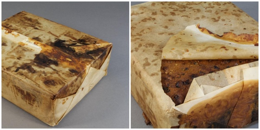 A 106 year old fruit cake was found!