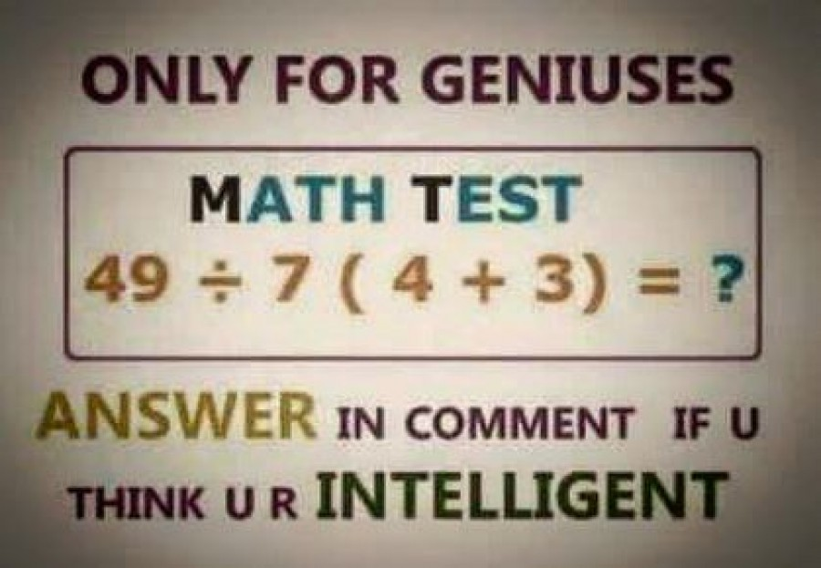 Math Test - Only for Geniuses